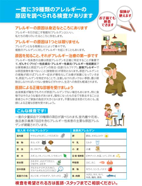 アレルギー検査について2
